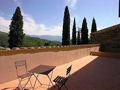 Herrlicher Ausblick vom Balkon in der Ferienwohnung Gallina in der Toskana