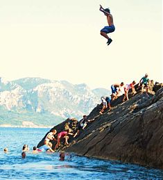 Klippenspringen Corfu