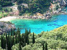 Diese Farben der Insel Korfu