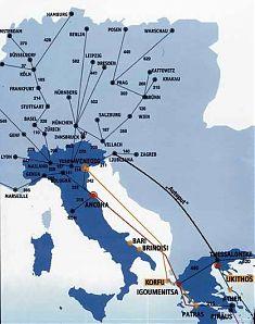 Flugzeit am Deutschland ca. 2 1/2 Stunden nach Thessaloniki