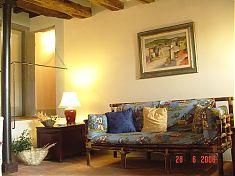 Wohnbereich Ferienwohnung Cavallo in der Toskana