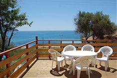 Ausblick von der Terasse in die Bucht Agios Georgios Korfu